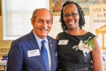 Elsa Magee, 2018 Award recipient, with Dr. Linares, Director of Higher Education Service Corporation.
