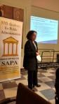 Phota of Donna Frescatore presenting